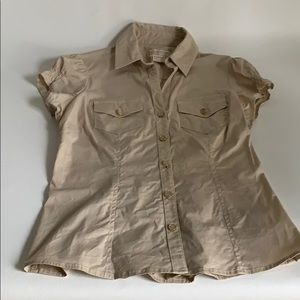 Short sleeve Michael Kors button down shirt.